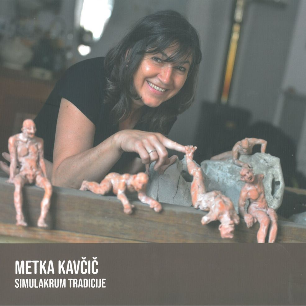 Portret Metke Kavčič v ateljeju, foto Jože Balas