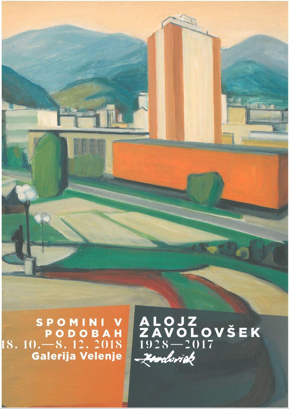 Alojz Zavolovšek, Velenje - 1977, olje/platno, 98 x 132 cm