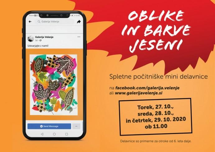 Spletne počitniške mini delavnice: OBLIKE IN BARVE JESENI