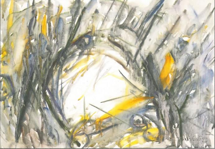 Krajina in akvarel