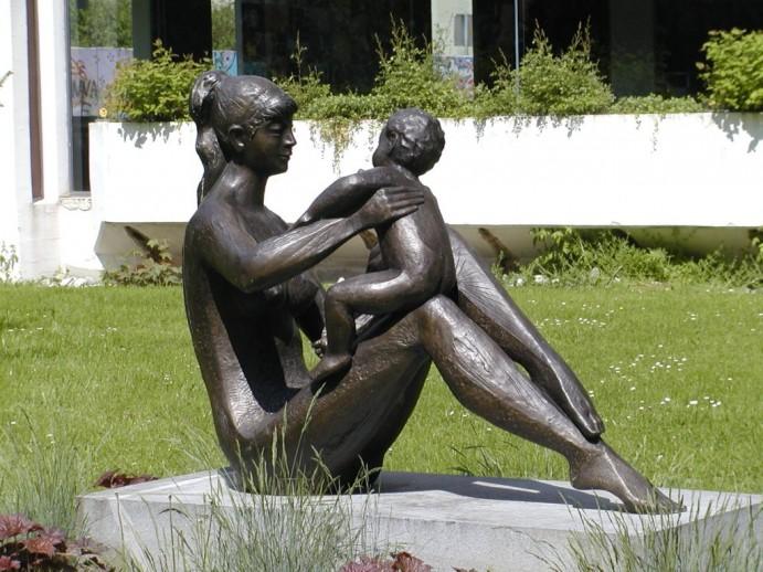 Kipar Stojan Batič v Velenju - 90-letnik