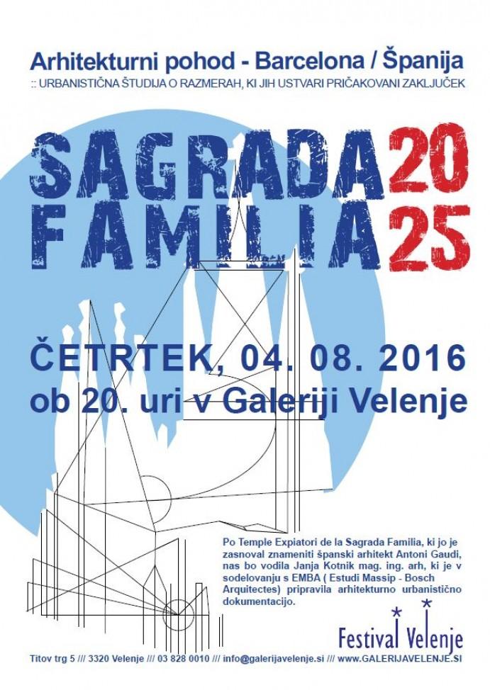 Arhitekturni pohod: Zgodba Sagrade familie 2025
