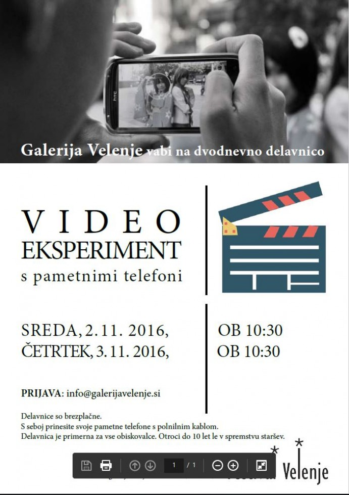 Video eksperiment s pametnim telefonom