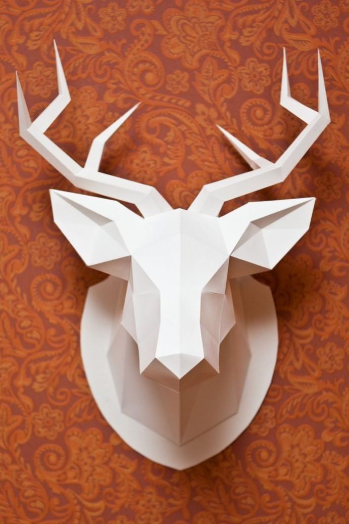 Low poly art: izdelava jelenje glave