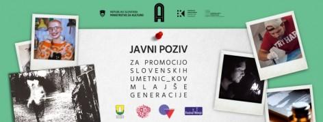 Javni poziv za promocijo slovenskih umetnic_kov mlajše generacije