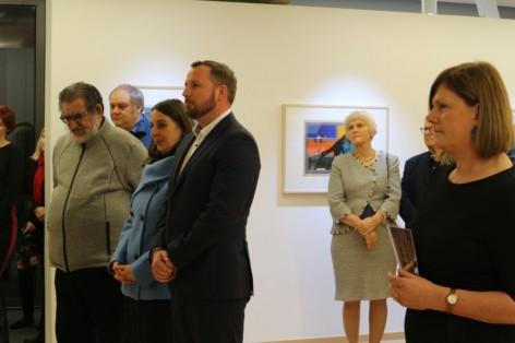 otvoritev razstave Rika Debenjaka