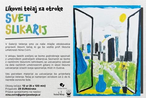 Likovni tečaj za otroke: Svet slikarij