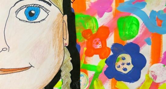 Otroško likovno ustvarjanje: Ko se mama na ogled postavi