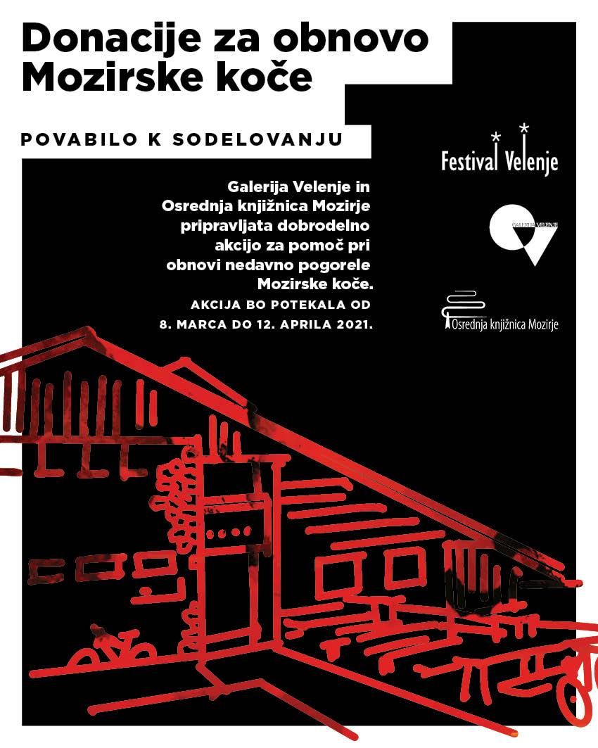 Povabilo k sodelovanju likovnikom SAŠA regije: Donacije za obnovo Mozirske koče